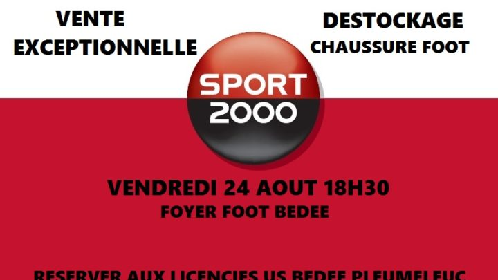 Vente chaussure foot Sport 2000