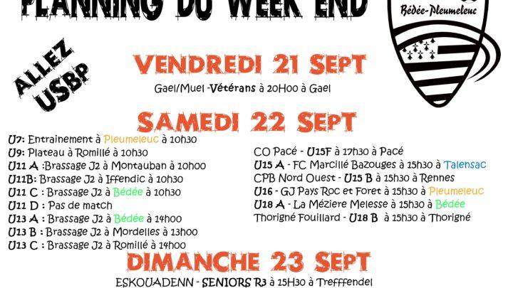 Planning du week- End