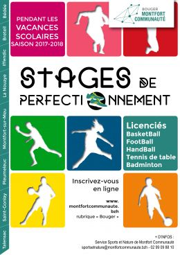 Inscriptions aux stages de perfectionnement