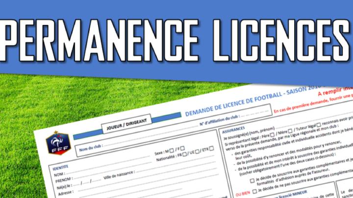 Permanences licences